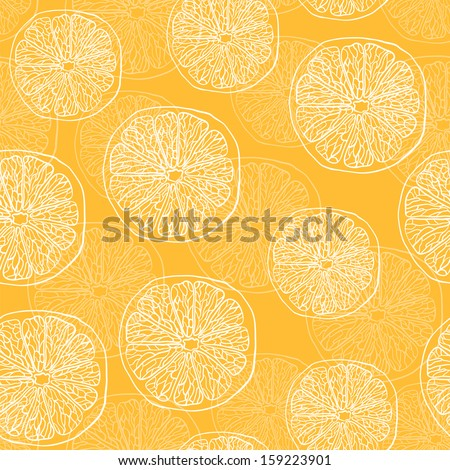 Vector pattern with oranges - stock vector