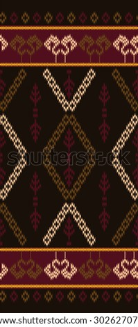 Vector Patterns designs.Tribal style with brown.