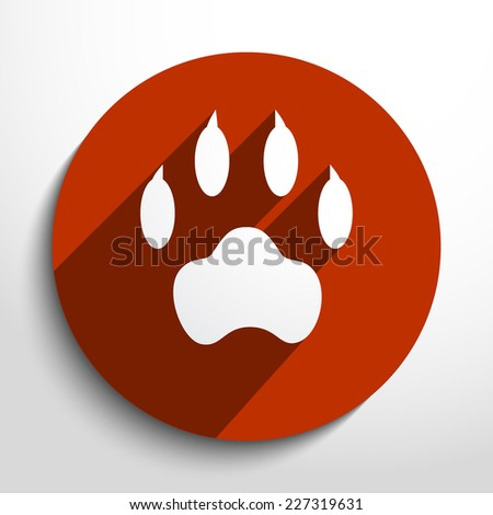 Vector paw web icon. Eps 10. - stock vector