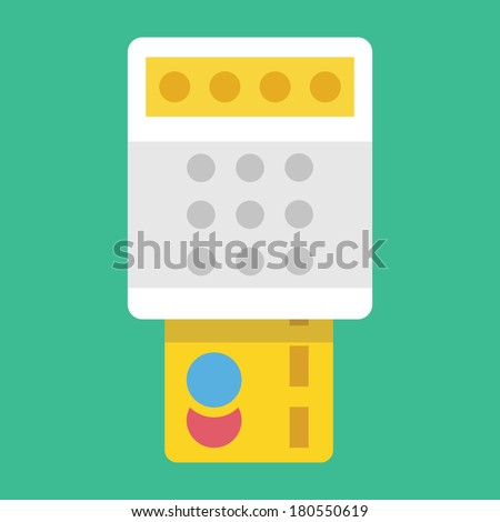 Vector Payment by Credit Card Icon Transaction Concept - stock vector