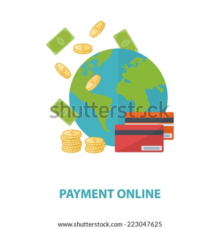 Vector payment online concept