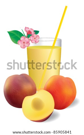 Vector peach juice