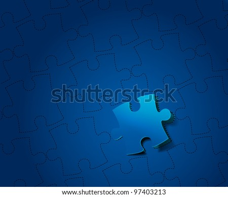 vector peel off puzzle design - stock vector