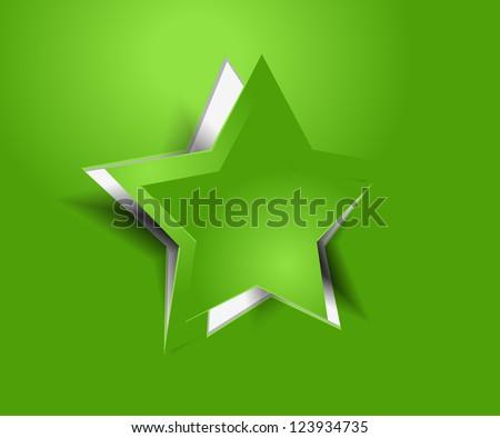 vector peel off star, eps 10 - stock vector