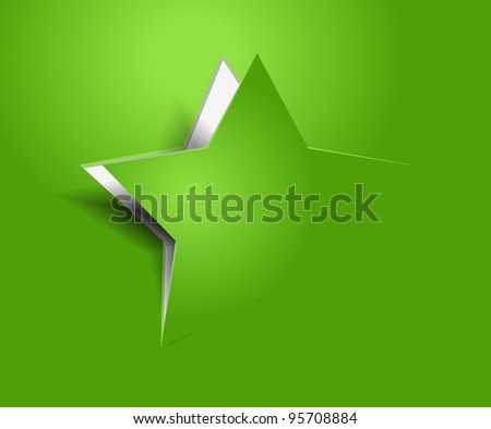 vector peel off star, eps10 illustration. - stock vector