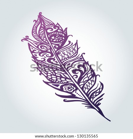 vector pen - stock vector
