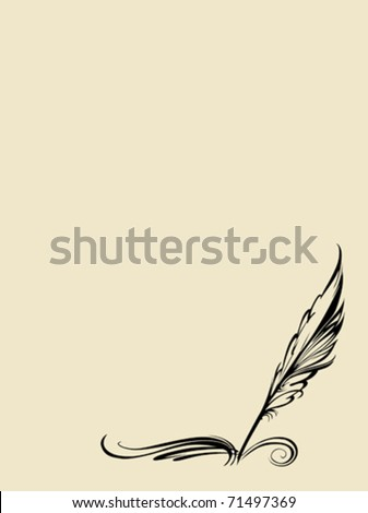 vector pen on white background