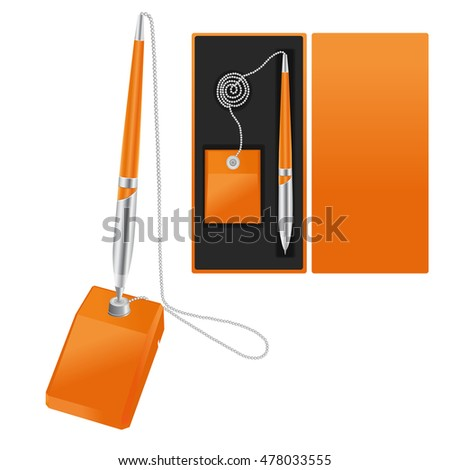 Vector pen with stand and pack.