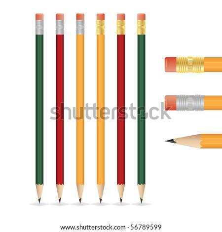 Vector pencil - stock vector