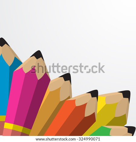 Vector pencil flat illustration. Education concept object - Eps 10. - stock vector