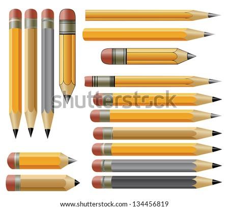 Vector pencils - stock vector