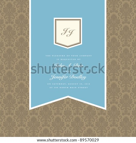 Vector Pendant Frame and Pattern. Easy to edit. Perfect for invitations or announcements. - stock vector