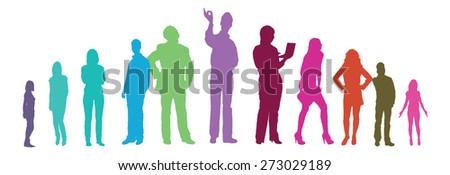 vector people - stock vector