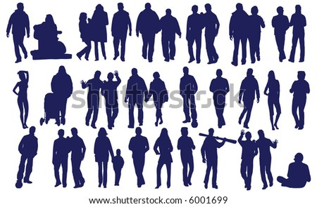 vector people - stock vector