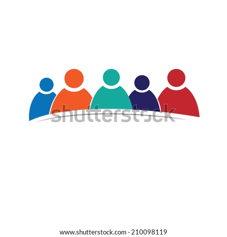 Vector people icon - stock vector