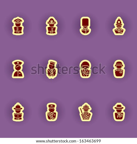 vector people icon set - stock vector