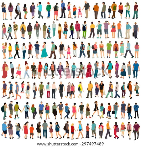 Vector people large set - stock vector