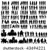 Vector people silhouettes - stock
