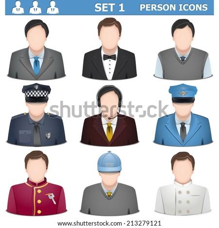 Vector Person Icons Set 1 - stock vector