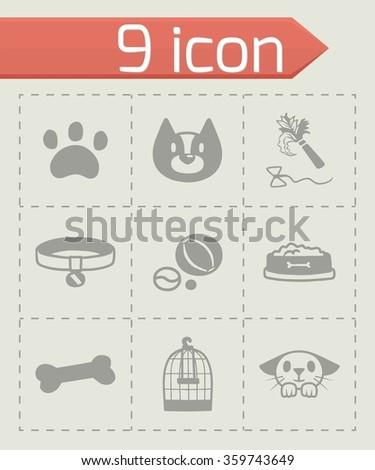 Vector Pet icon set - stock vector