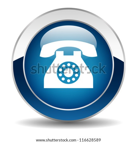 Vector phone button - stock vector