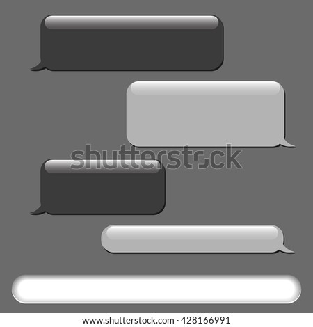 Vector phone chat bubbles. Short message service bubbles, chat. Speech bubbles. Sms messages. Vector illustration - stock vector