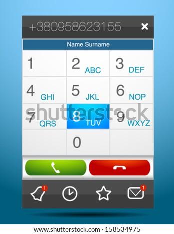 Vector phone dial pad  - stock vector
