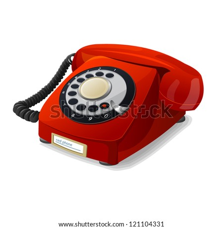 Vector phone red - stock vector