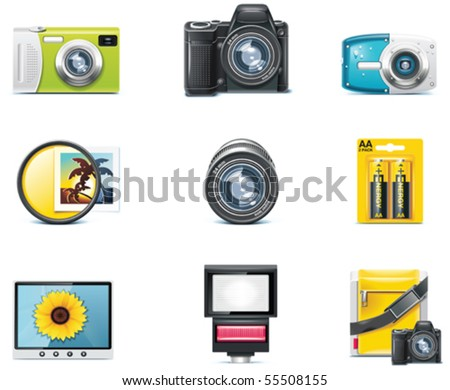 Vector photography icons. Part 1 - stock vector