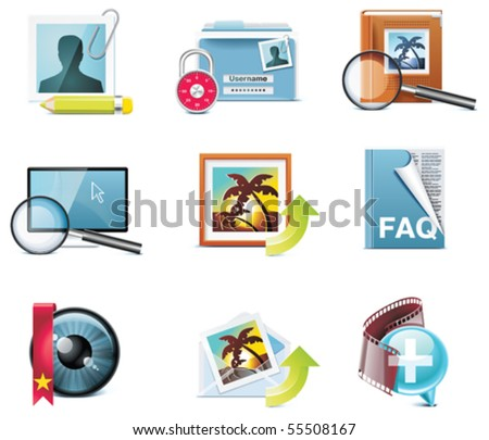 Vector photography icons. Part 5 - stock vector