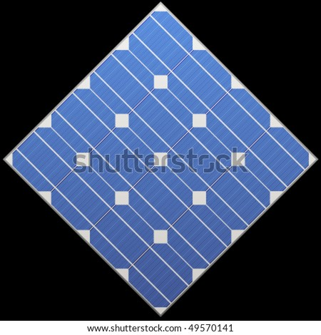 vector photovoltaic panel - stock vector