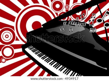 vector Piano - stock vector