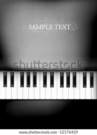 vector piano keyboard - stock vector