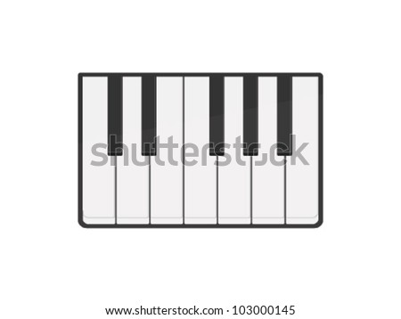 Vector Piano Keyboard Icon - stock vector