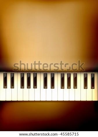 vector piano keyboard illustration - stock vector