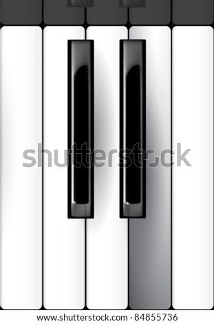 vector piano keyboard illustration - stock vector