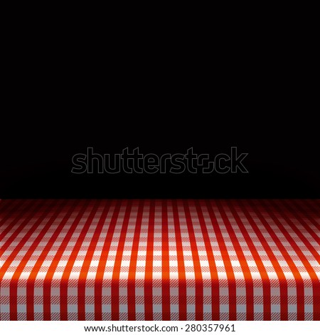 Picnic Table Background vector picnic table covered tablecloth on stock vector 280357961
