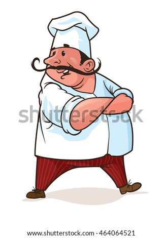 Vector picture of chief-cooker