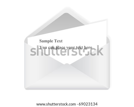 Vector picture of white letter with space for text - stock vector