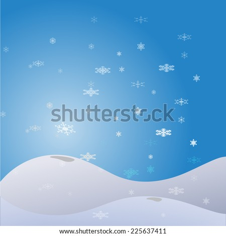 Vector picture with a Christmas theme on a blue background.