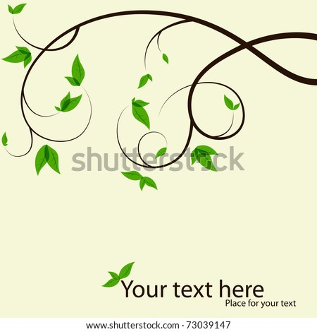 Vector picture with tree branches