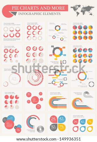 Vector pie chart infographic elements set stock vector hd royalty vector pie chart infographic elements set flat design vector world map with various of vector gumiabroncs Images
