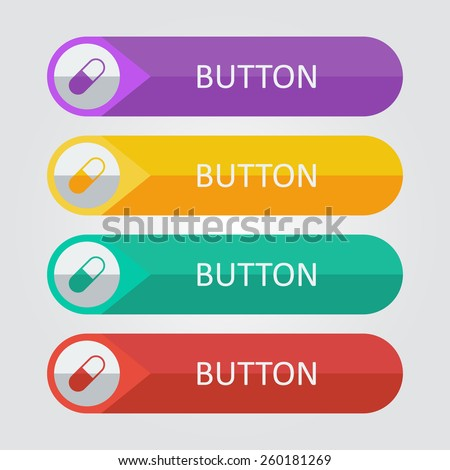 Vector pill icon. File format eps 10 - stock vector