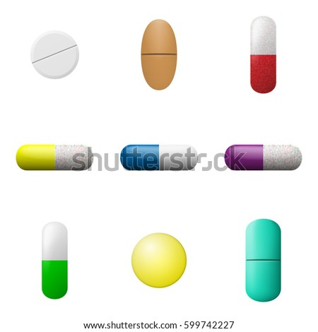 vector pills capsules set pharmacy drugs stock vector 599742227 rh shutterstock com vector pills vector pills red dawn