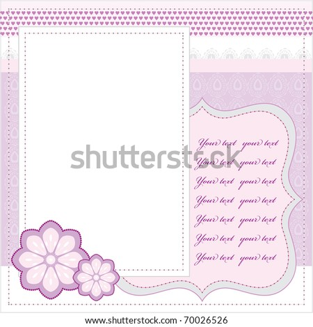 Vector pink frame - stock vector