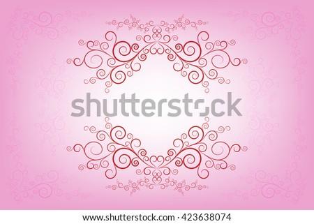 Vector pink invitation card layout design stock vector royalty free vector pink invitation card layout design template stopboris Choice Image