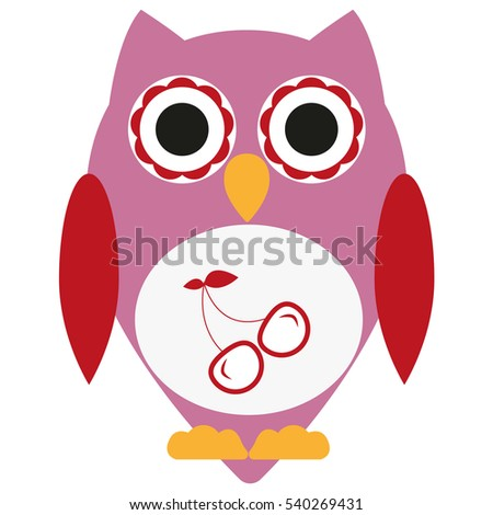 Decorated Owl Character Stock Vector 32947414 Shutterstock