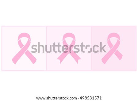 Vector Pink ribbons set of breast cancer on an abstract background. illustration for design exquisite poster, banner, advertising