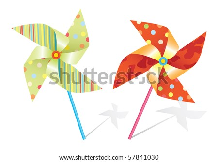 vector pinwheel - stock vector