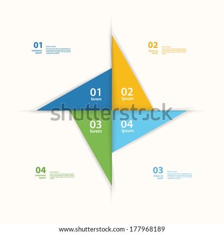 Vector Pinwheel Template Abstract Layout Presentation Stock Vector ...